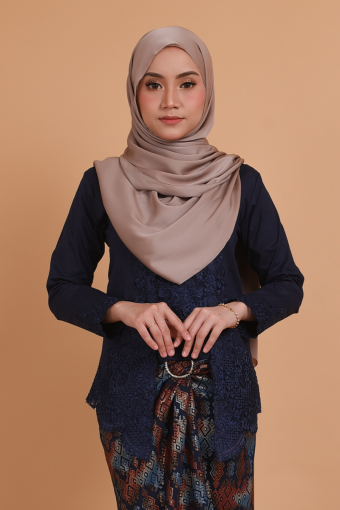 Kebaya Kesuma - Navy Blue (Top only)